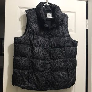 Old Navy Animal Print Vest
